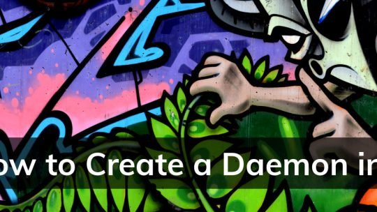 How to create a c-style process daemon